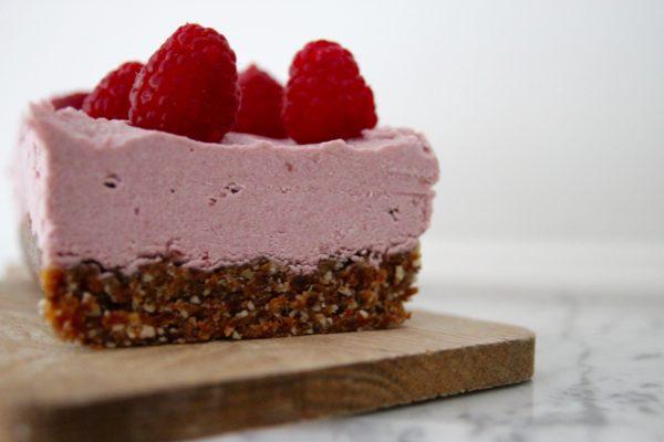 cheesecake cru à la framboise