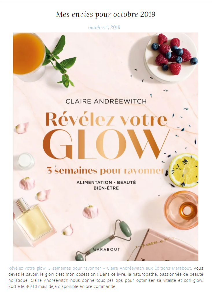 Article sur thebeautytheory.fr