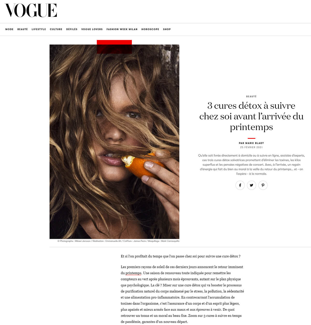 Vogue detox